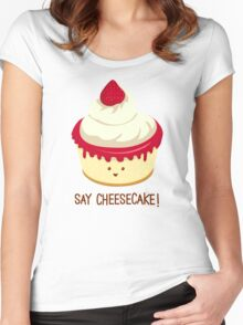 Say CheeseCake! - Pink Version Women's Fitted Scoop T-Shirt