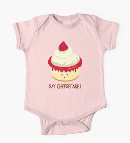 Say CheeseCake! - Pink Version One Piece - Short Sleeve