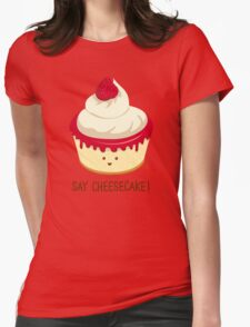 Say CheeseCake! - Pink Version Womens Fitted T-Shirt
