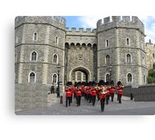WINDSOR CASTLE AND GUARD Canvas Print