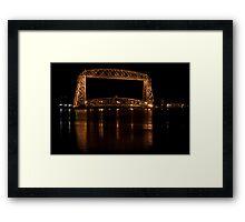 Bridge at night, Duluth Framed Print
