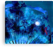Blue Bird on a Blue Moon  Canvas Print