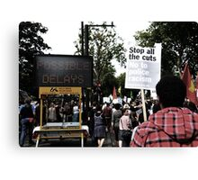 Tottenham Demonstrations Canvas Print