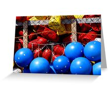 Red, Yellow? and Blue Greeting Card