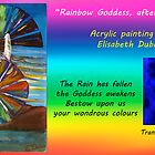 Rainbow Goddess after the Rain CARD by Elisabeth Dubois