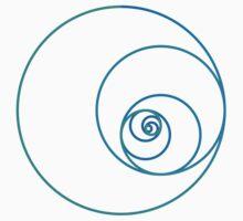 Two Golden Ratio Spirals One Piece - Long Sleeve