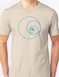 Two Golden Ratio Spirals Unisex T-Shirt