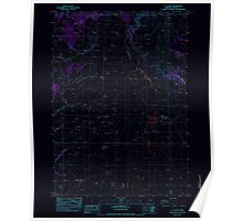 USGS Topo Map Oregon GI Ranch 279978 1983 24000 Inverted Poster