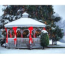 Small Town Christmas Photographic Print