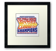 Chicago Cubs World Series Champions - Back to the Future  Framed Print