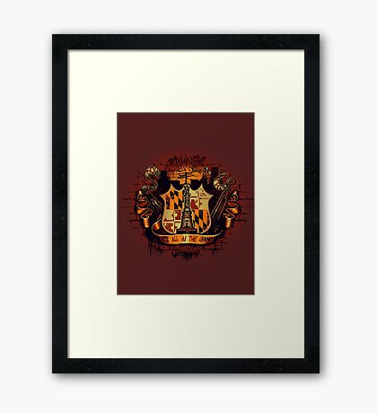 It's All in the Game Framed Print
