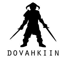 Skyrim Dovahkiin Photographic Print