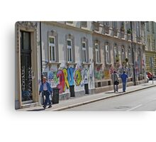 Graffiti Ljubljana Style Canvas Print