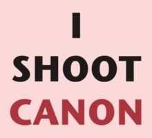I Shoot Canon Baby Tee