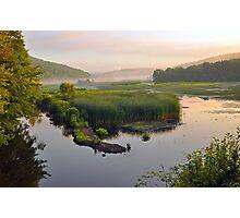 Sunrise on Rice Pond  Photographic Print