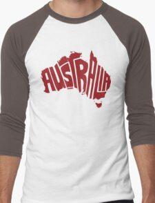 Australia Red Men's Baseball ¾ T-Shirt