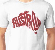 Australia Red Unisex T-Shirt