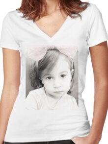 Sugar and Spice Eyes Women's Fitted V-Neck T-Shirt