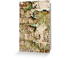 Textures - Green and white peeling paint Greeting Card