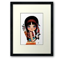 Native Girl Framed Print