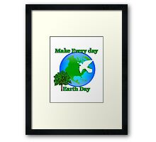 Earth day graphic Framed Print