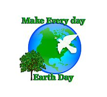 Earth day graphic Photographic Print