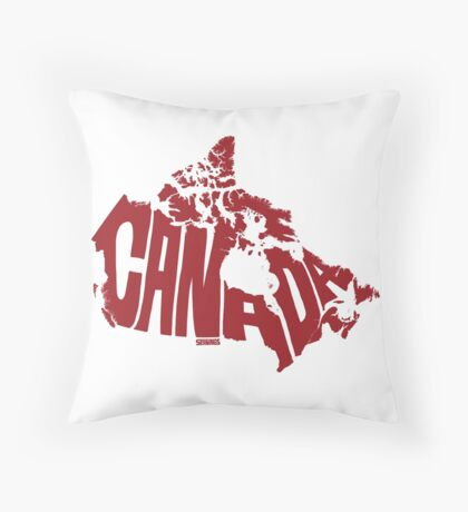 Canada Red Throw Pillow