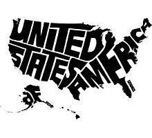 USA Black Photographic Print