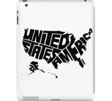 USA Black iPad Case/Skin