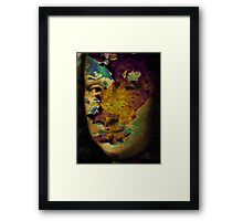 mona lisa raw Framed Print