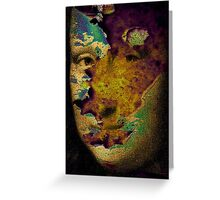 mona lisa raw Greeting Card