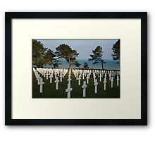 Normandy American Cemetery Framed Print