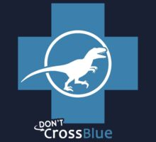 Don't Cross Blue | Jurassic Raptor One Piece - Short Sleeve