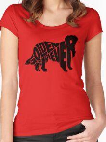 Golden Retriever Black Women's Fitted Scoop T-Shirt