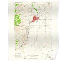 USGS Topo Map Oregon Burns 279211 1960 24000 Poster
