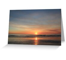 cable beach sunset august 2011 Greeting Card
