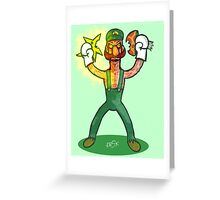 Luigi Lunacy Greeting Card