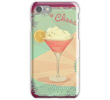 50s Pink Martini Cheesecake Cocktail iPhone Case/Skin