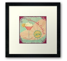 50s Pink Martini Cheesecake Cocktail Framed Print