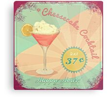 50s Pink Martini Cheesecake Cocktail Metal Print