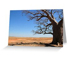 one mile dinner camp tree Greeting Card