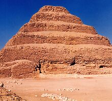 Step Pyramid of Djoser at Saqqara, Egypt by Alberto  DeJesus