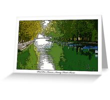 Pont Des Amours, Annecy Greeting Card