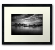 The Mood of a Cloudy City Framed Print