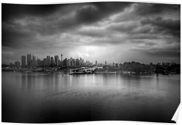 The Mood of a Cloudy City by Mark  Lucey