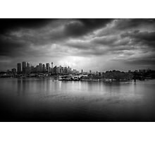 The Mood of a Cloudy City Photographic Print