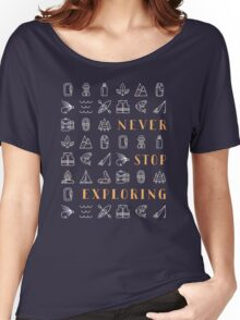 Never Stop Exploring Women's Relaxed Fit T-Shirt