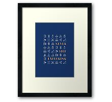 Never Stop Exploring Framed Print