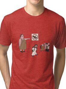 Inappropriate Footwear  Tri-blend T-Shirt