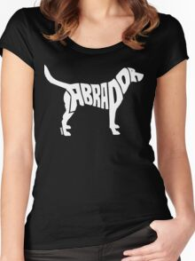 Labrador White Women's Fitted Scoop T-Shirt